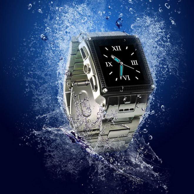 שעון טלפון סלולרי חסין מים - W818  - כולל תמיכה בעברית
