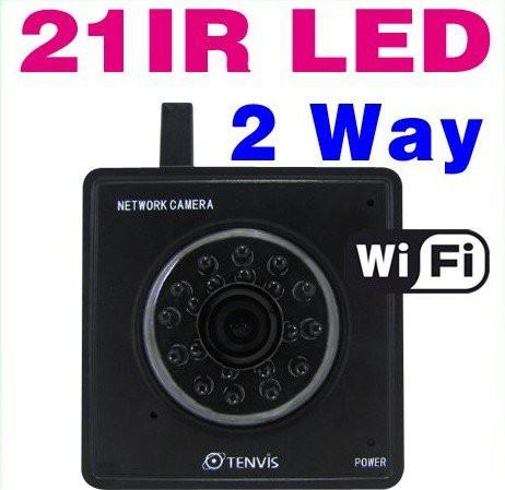 מיני מצלמת IP אלחוטית עם ראיית לילה לצפייה באמצעות הטלפון הסלולרי
