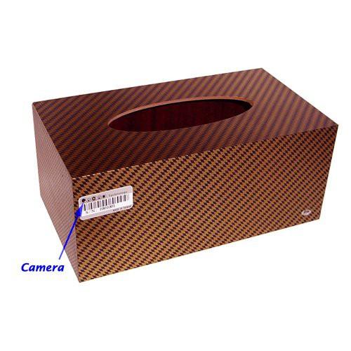 מצלמה נסתרת זעירה סמויה בתוך קופסת טישו TC407