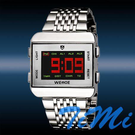 שעון רטרו מתכתי עם תצוגת לד TIMI 656