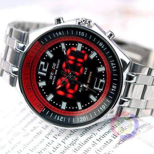 שעון אנלוגי משולב לדים  TIMI 212