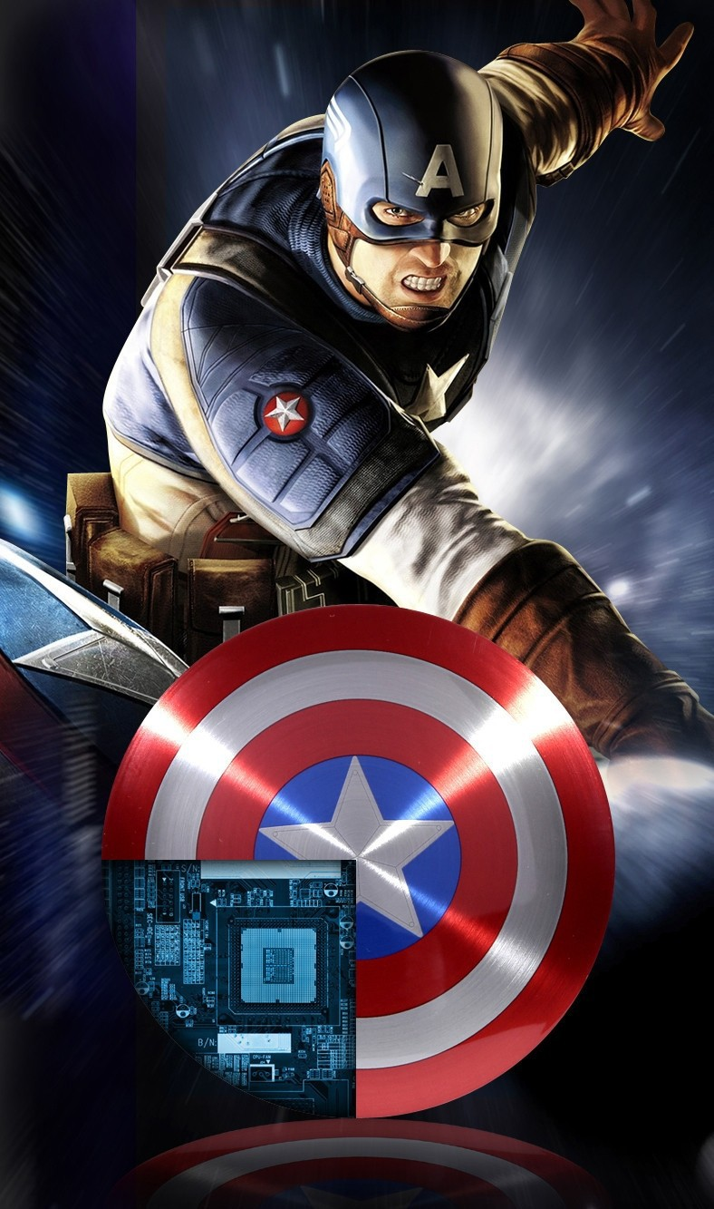 מטען לטלפונים ניידים בצורת מגן של קפטן אמריקה