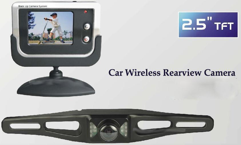 מצלמת רוורס אלחוטית כולל צג LCD