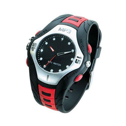 שעון מעוצב עם נגן MP3 וזכרון פנימי 2GB