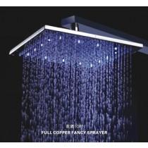 ראש מקלחת בגודל 10 אינץ עם תאורת לדים מתחלפת