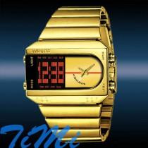 שעון רטרו מוזהב מואר לד TIMI 171