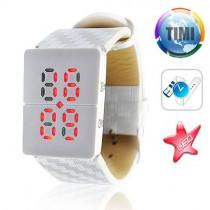 שעון יד לבן מואר לד TIMI 494