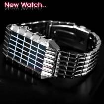 שעון מטריקס מתכתי עם תצוגת לד TIMI 848