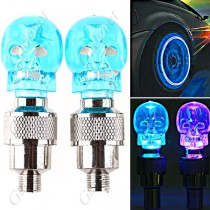 תאורת לדים לגלגלים בצורת גולגולת