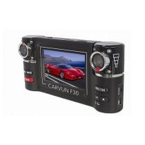 מצלמה מקצועית לרכב עם עדשה כפולה וראיית לילה  - F10