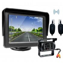 מצלמת רוורס אלחוטית לרכב עם צג קדמי WCV607