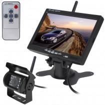 מצלמת רוורס אלחוטית לרכב כולל צג 7 אינץ -  לרכבים,משאיות ואוטובוסים