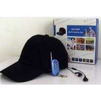 מצלמה נסתרת בכובע עם בלוטוס ואוזניות
