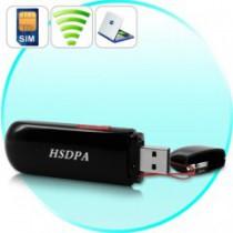 מודם סלולרי USB - מודם HSDPA עבור אינטרנט במהירות גבוהה דרך כרטיס ה-SIM