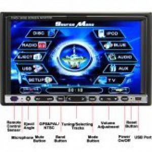 נגן DVD-ROAD WARRIOR עם מסך מגע 7 אינץ ו GPS
