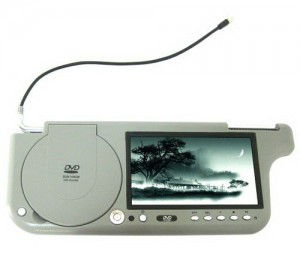 סך שמש עם נגן DVD ומסך 7 אינץ