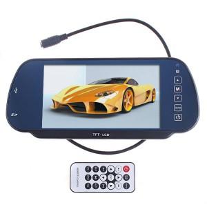 מסך למצלמה אחורית לרכב משולב במראה הכולל נגן מדיה