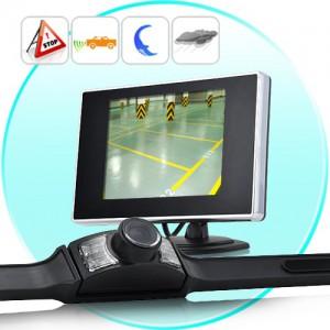 מצלמת רוורס אלחוטית לרכב משולבת מסך קדמי אלחוטי